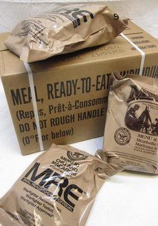 Американские сухпайки MRE Meal BOX A